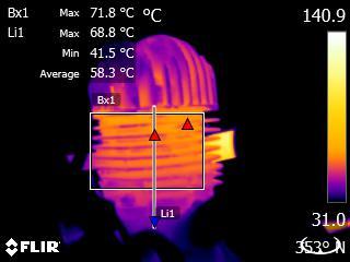 Recherche de points anormalement chaud ou froid.